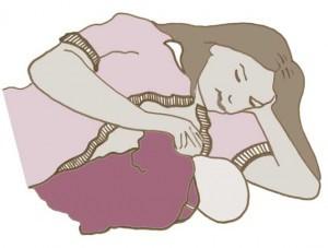 Side lying hold for breastfeeding
